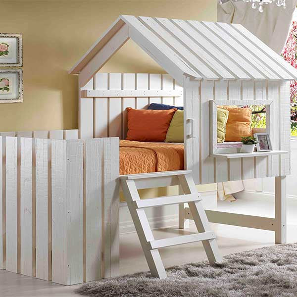 2-in-1 Cabana loft bed play house