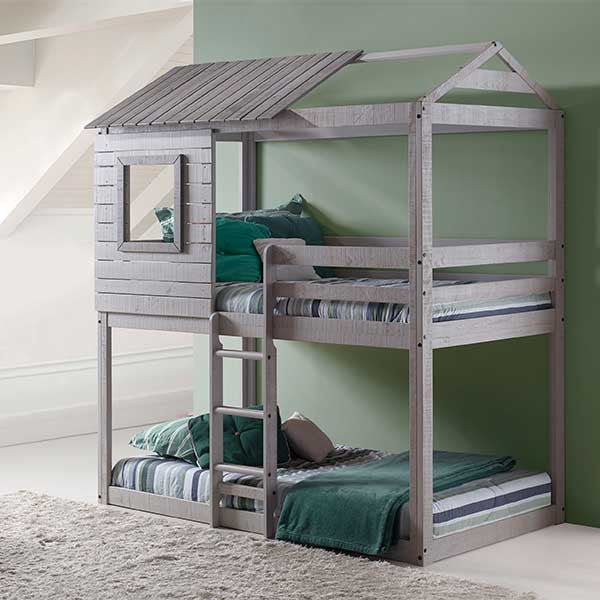 Deer Blind Twin Over Twin Bunk Bed - Loft Beds 4 Kids