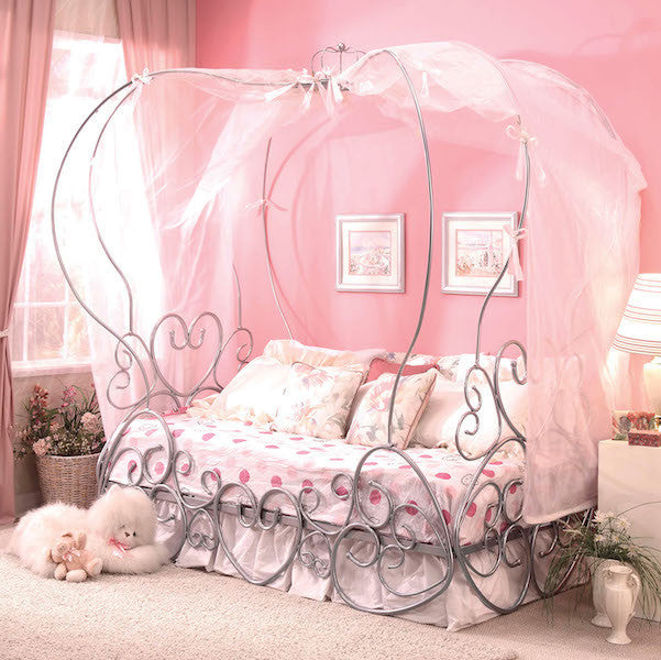 Princess Pumpkin Canopy Full Bed