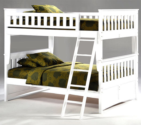 Ginger Full over Full Bunk Bed /White Finish