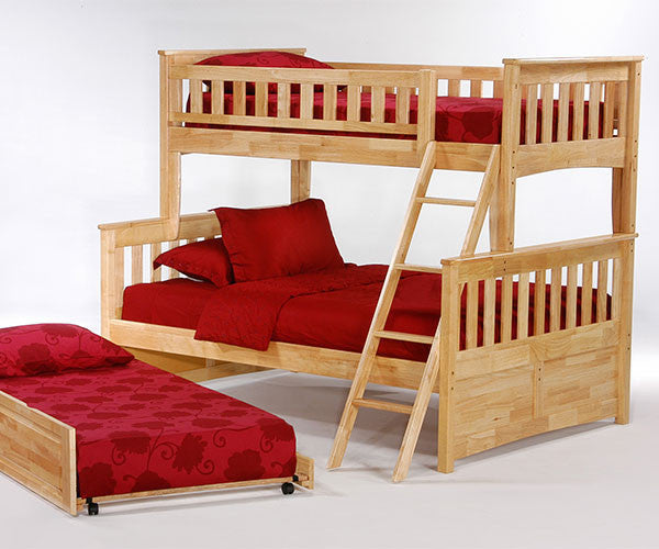 Ginger Twin over Full Bunk Bed with Trundle Bed