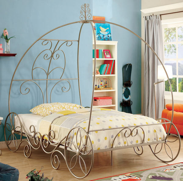 Princess Carriage Dream Metal Twin Bed