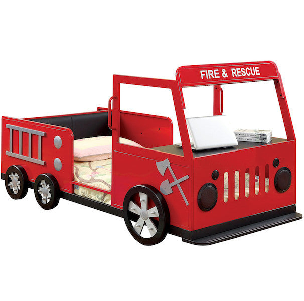 Fire-Engine Truck Twin Youth Bed