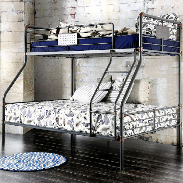 Brieson Industrial Twin over Full Mental Bunk Bed