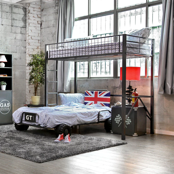 UK Racing Car Youth Loft Bed