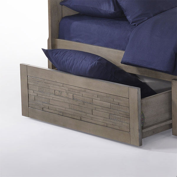 Dolphin Twin over Twin Bunk Bed with Drawers detail