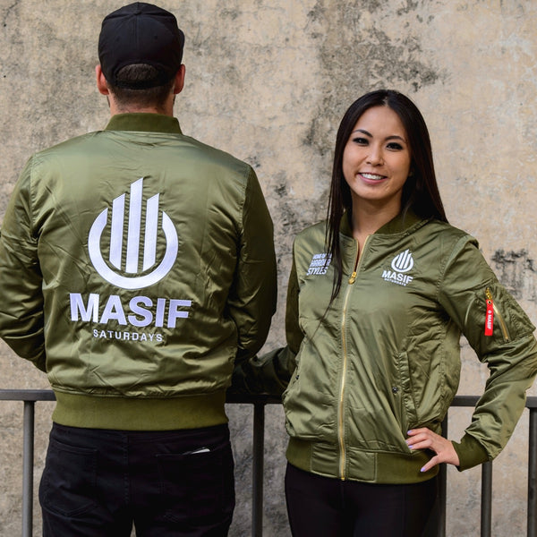 MA-1 Bomber jacket satin shell army green