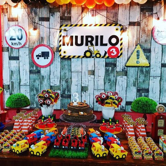 Construction Party - Murilo's 3r birthday