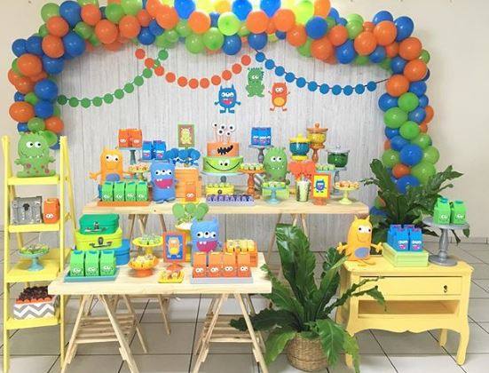 Monsters themed Party - 1st birthday party ideas!