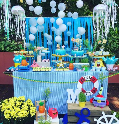 SpongeBob party idea! - Matheus  5th birthday