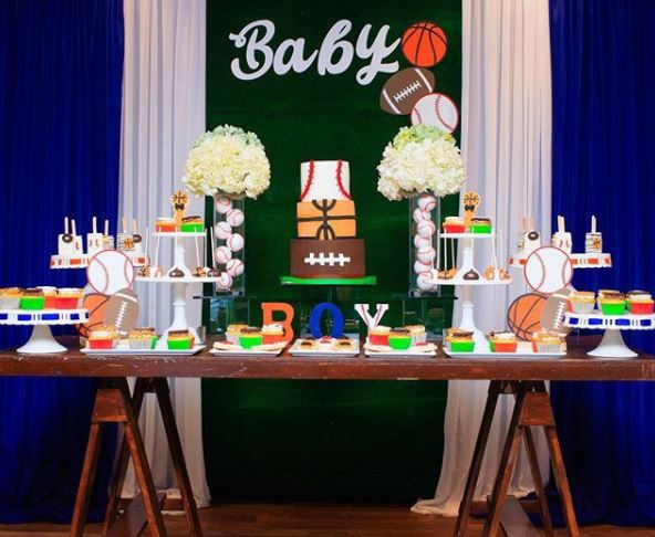 Sports party ideas- Baseball, Football and Basketball!