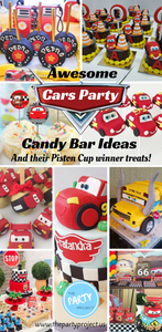 Awesome Cars Party candy bar ideas and their Piston Cup winner treats!