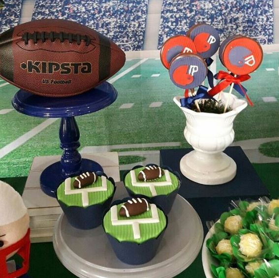 Super Bowl party ideas | Footbal birthday cady bar , dessert table inspirations by The Party Project