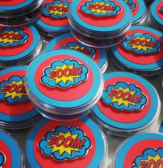 Justice League party ideas-Treats-Party foods-Justice League favor boxes-Justice League Party inspirations-fiesta infantil-www.thepartyproject.us