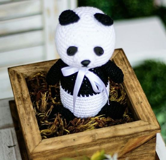 Panda Birthday decorations-Panda birthday- Panda baby shower-Panda table decor-by the party project
