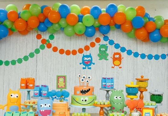 Monsters Perty ides- Monsters Birthday- Monsters party-Monsters party decoration-Monsters party inspitation-www.thepartyproject.us