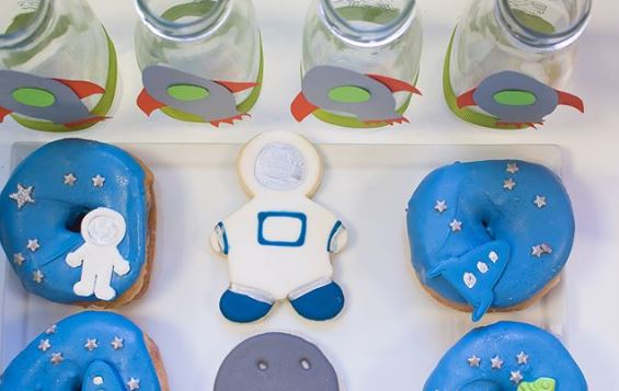 Space themed donuts | Out of Space party ideas by The Party Project