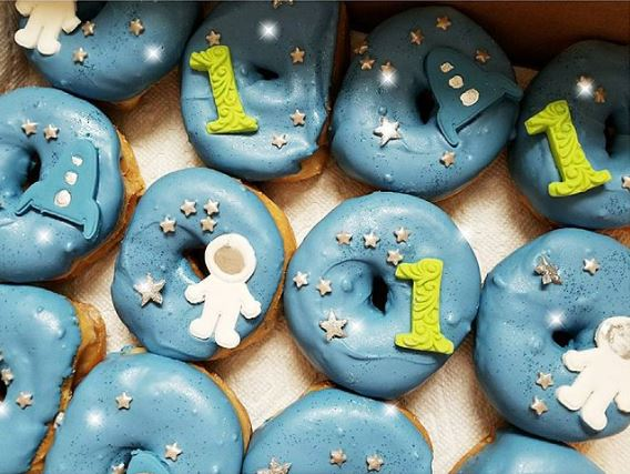 Astronaut themed Donuts | Out of Space party ideas by The party project!
