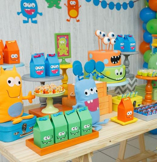 Monster Party idea-Monsters party inspiration-Monsters birthday-Monsters dessert table- Monster themed party idea-www.thepartyproject.us
