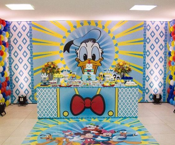 Donald Duck party ideas- Donald Duck birthday-Party inspiration by the party project-www.thepartyproject.us