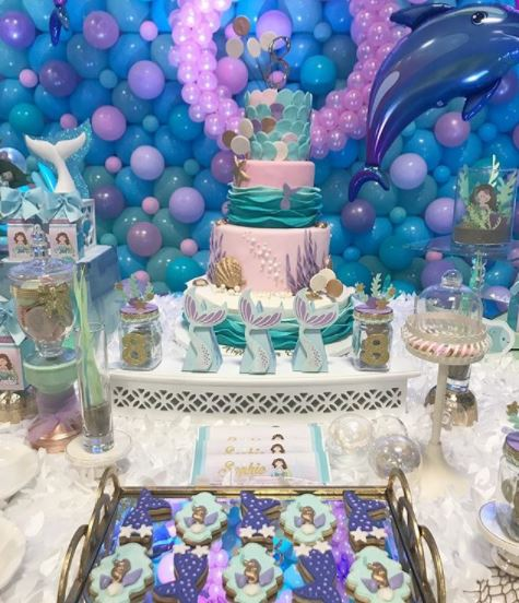 Mermaid party ideas-Under the sea themed party- Mermaid baby shower-Little mermaid birthday party-Cumpleanos sirena- www.thepartyproject.us