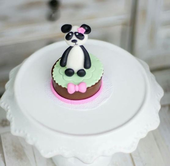 Panda mini cake-Panda cake-Panda Birthday party idea-Panda dessert table-party inspirations-Girl Panda birthday-by the party project