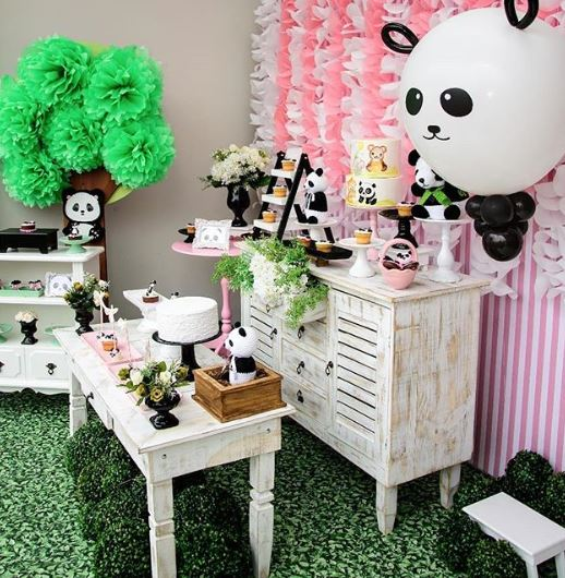 Panda birthday party idea-Girl panda baby shower-Panda party-Panda dessert Table-Panda Party Inspirations-by the party project