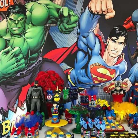 Superheroes and Avengers themed party ideas- Superhero party- Avengers Baby shower-Fiesta super heroes- Festa Superherois- Festa vengadores- www.thepartyproject.us
