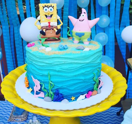 Sponge bob cake-Patrick cake- Bikini Botton party-food party www.thepartyproject.us