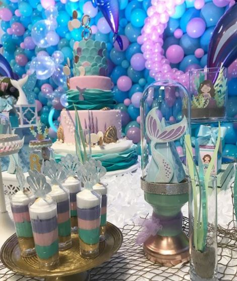 Little Mermaid party- Mermaid party ideas- Mermaid birthday- Under the sea themed party-festa sereia- festa fondo do mar- party inspiration- by the party project