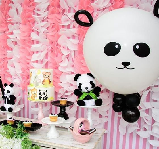 Panda party idea- Panda baby shower idea-Girl panda party-Decorations-Girl Panda candy bar-Panda dessert table-by the party project