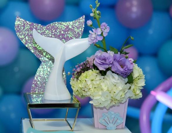 Mermaid dessert table- Mermaid candy bar- Mermaid baby shower- Under the sea themed party- Mermaid decorations-www.thepartyproject.us
