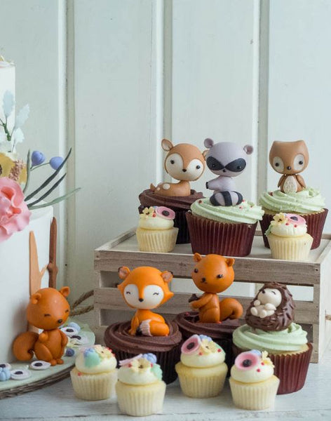 Woodland Chic cupcake idea-Treats-Candy bar treats-Forest animals party-woodland animals party inspirations-Woodland animals candy bar-Woodland Babyshower cupcakes-by the party project