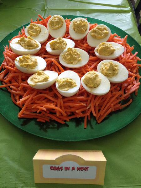 Angry Birds eggs - party food ideas