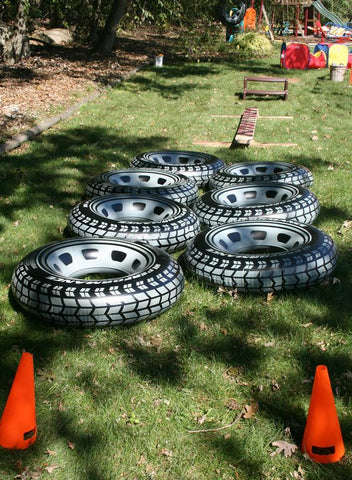 The Party Project | Tire Toss game - cars party ideas!