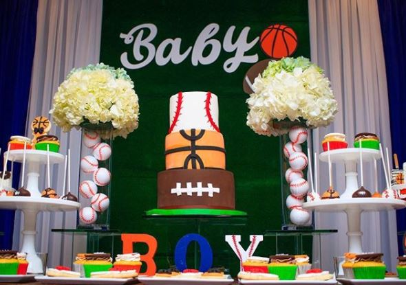 Sports birthday party ideas- Baseball party- Basketball birthday party ideas- Football party inspirations- Sports decorations- Sports dessert table- by the party project.