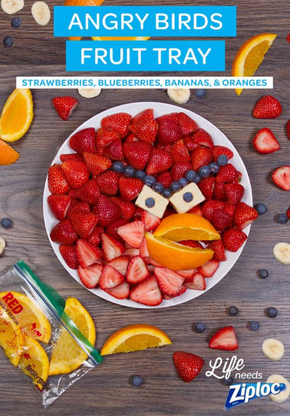 Angry Birds fruit salad party idea