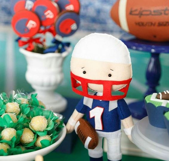 Cute football party ideas by The Party Project | Superbowl birthday