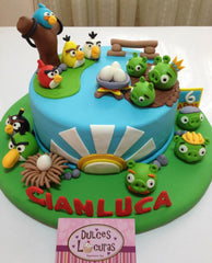Angry Birds cake by Dulce Locura.