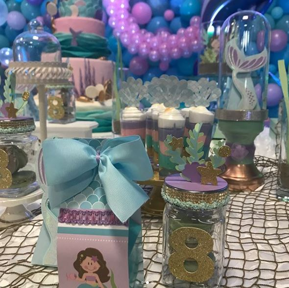 Mermaid party ideas- Under the sea themed party- Mermaid birthday party- Mermaid party boxes- Mermaid favor boxes- Mermaid party ideas- Little mermaid party inspiration-by the party project