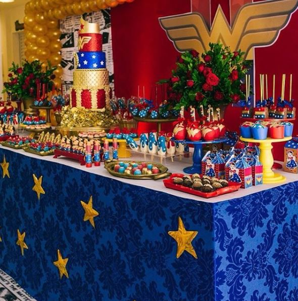 Wonder Woman Party Ideas- Wonder Woman Birthday Party- Wonder Woman Birthday-Wonder Woman dessert table ideas-Party inspiration by the party project