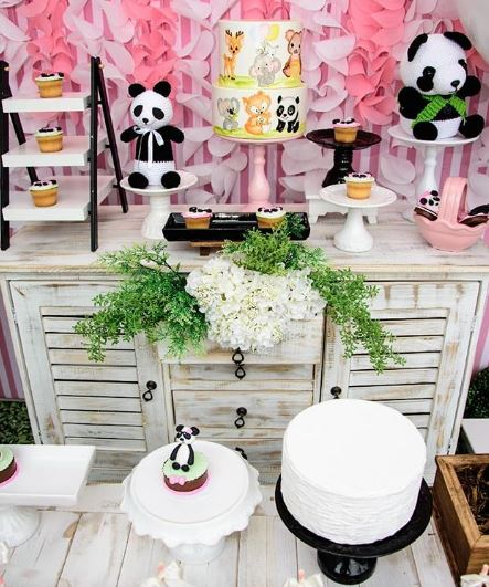 Panda Birthday party-Panda Baby Shower idea- Girl Panda party idea-Party inspirations-by the party project