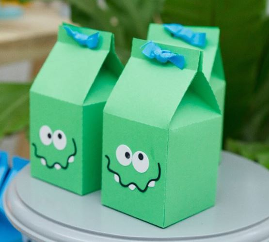 Monsters party ideas-Monsters Party decorations- Mosters favor boxes-Monsters party inspiration- treats-www.thepartyproject.us