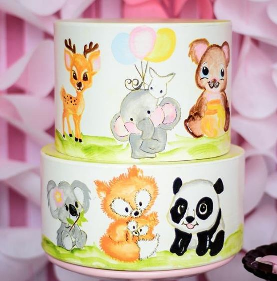 Panda Cake-Panda birthday party -Panda baby shower idea-Hand made cake-Party inspirations-www.thepartyproject.us