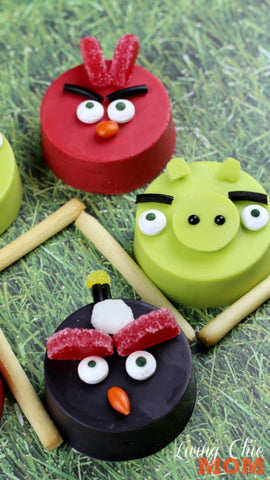 Red - Pig - Bomb - ANgry birds covered chocolate oreos!