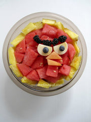 Red - Angry birds food party ideas