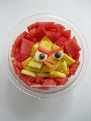 Chuck face - ANgry Birds party food ideas
