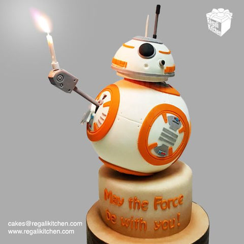 BB8 Cake - Star Wars Party ideas.