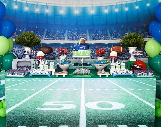 Super bowl party ideas | Football birthday party by The Party Project