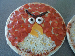 Red - Angry Birds pepperoni pizza
